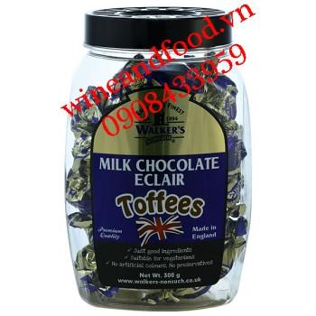 Kẹo Walker's Milk chocolate Eclair Toffees hũ 300g