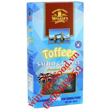 Kẹo Walker's salted caramel Toffees hộp 150g
