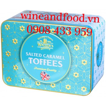 Kẹo Walker's Salted Caramel Toffees hộp thiếc 250g