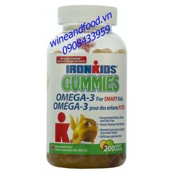 Kẹo dẻo Gummies bổ sung omega 3 Ironkids 200 viên