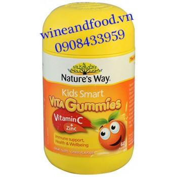 Kẹo dẻo vitamin C zinc Nature's Way 60 viên