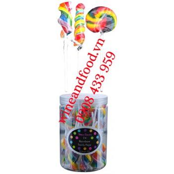 Kẹo mút Rainbow Lollipops Twirly Pops Sweet Treats