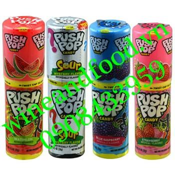 Kẹo ngậm Push Pop son môi các loại