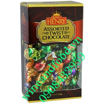 Kẹo socola thập cẩm King Henry hộp giấy 250g