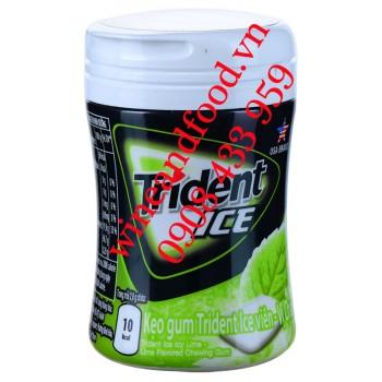 Kẹo cao su chewing gum Trident Ice Bạc Hà vị Chanh 56g