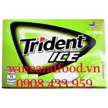 Kẹo cao su chewing Gum Trident Ice Bạc Hà vị Chanh vỉ 11g2