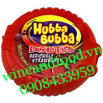 Kẹo cao su chewing gum cuộn Hubba Bubba Dâu 180cm