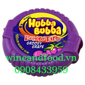 Kẹo cao su chewing Gum cuộn Hubba Bubba nho 180cm