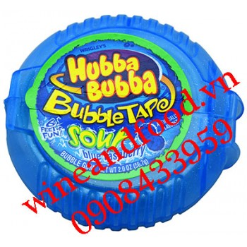 Kẹo cao su chewing gum Hubba Bubba Sour Blue Raspberry