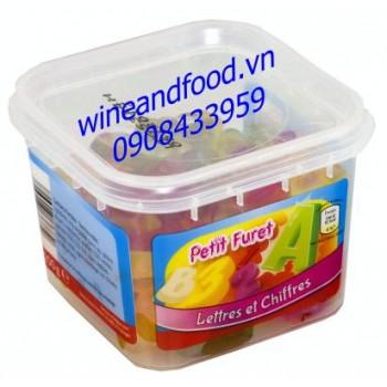 Kẹo dẻo trái cây chữ cái và số Petit Furet 200g