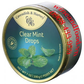 Kẹo bạc hà Clear Mint Drops Cavendish & Harvey 200g