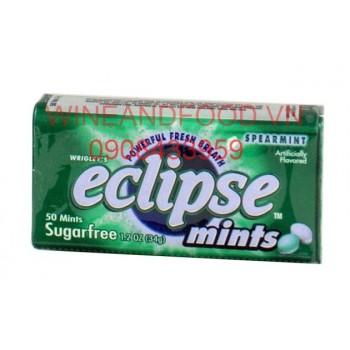 Kẹo ngậm Eclipse Spearmint không đường 34g