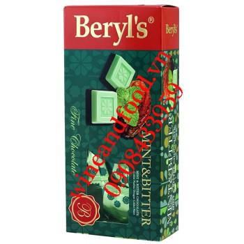 Kẹo socola đắng Bạc Hà Beryl's hộp 125g