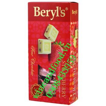 Kẹo socola trắng vị Dâu Beryl's hộp 125g
