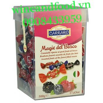 Kẹo trái cây Carraro Magie Del Bosco hộp vuông 500g