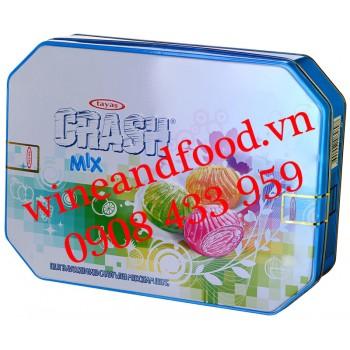 Kẹo trái cây Crash Mix Tayas hộp thiếc 300g