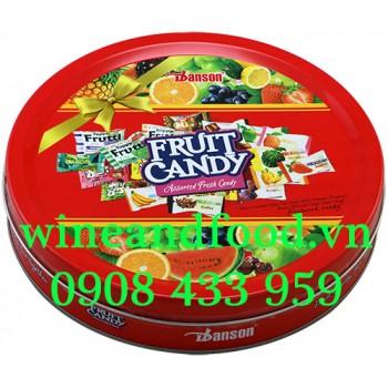 Kẹo trái cây Danson hộp thiếc tròn 200g