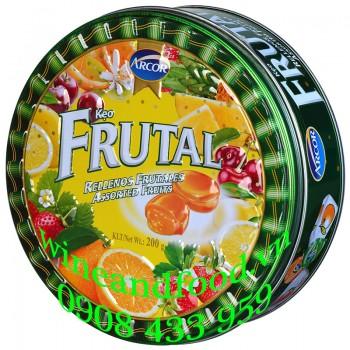 Kẹo trái cây Fruital Arcor hộp thiếc 200g
