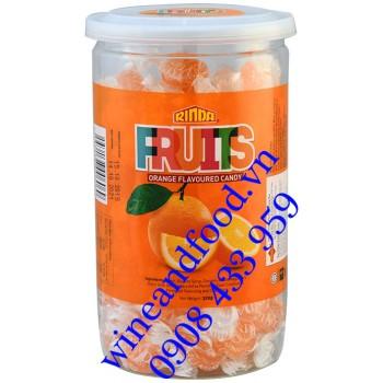 Kẹo trái cây Fruits Hương Cam Rinda hũ 320g