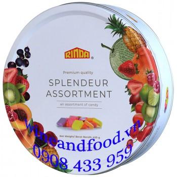 Kẹo trái cây hỗn hợp Rinda hộp thiếc 420g
