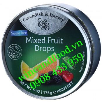 Kẹo trái cây Mixed Fruit Drops không đường Cavendish & Harvey 175g