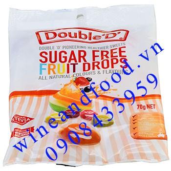 Kẹo trái cây không đường Double D 70g