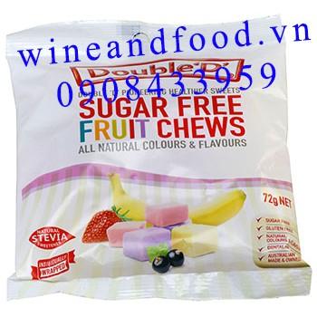 Kẹo trái cây không đường Double D 72g