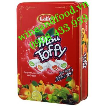 Kẹo trái cây Mini Toffy Lale hộp thiếc 250g