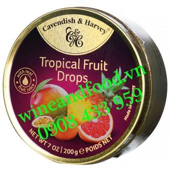 Kẹo Tropical Fruit Drops Cavendish & Harvey 200g