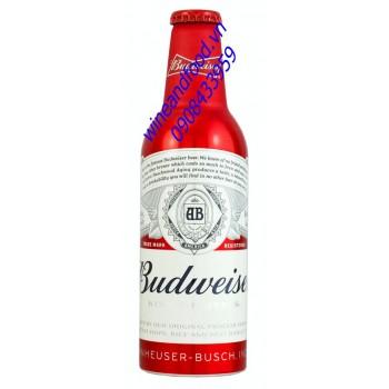 Bia Budweiser chai nhôm đỏ 355ml