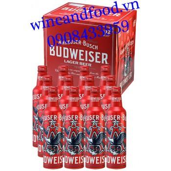 Bia Budweiser Mỹ chai đỏ 355ml
