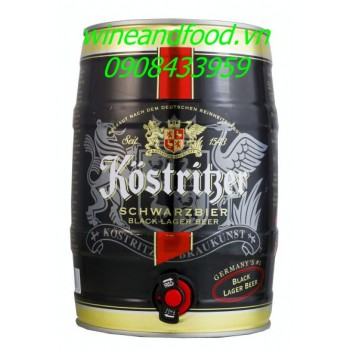 Bia đen Kostritzer 5l