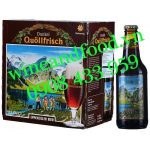 Bia đen Quollfrisch Dunkel Appenzeller 5.2% thùng 6 chai 33cl