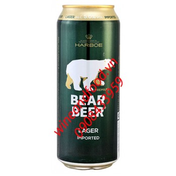 Bia gấu Bear Beer Harboe premium lager 500ml