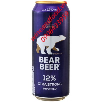 Bia Gấu Bear Xtra Strong Harboe 500ml