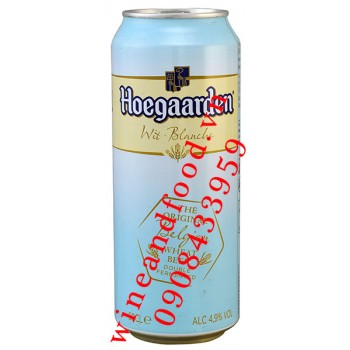 Bia Hoegaarden Wit Blanche lon 50cl