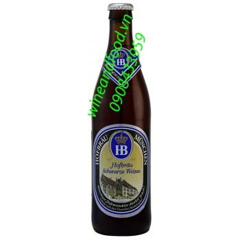 Bia Hofbrau Schwarze Weisse 500ml