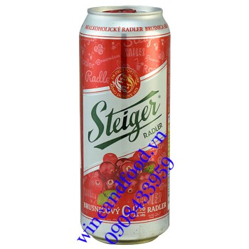 Bia không cồn Steiger Radler Cranberry 500ml