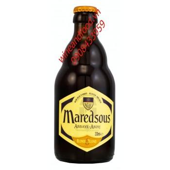 Bia nâu Bỉ Maredsous 330ml
