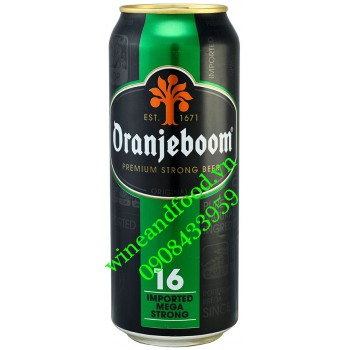 Bia Oranjeboom Mega Strong 16% lon 500ml