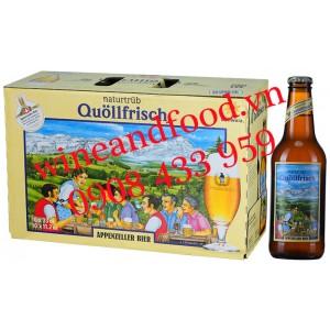 Bia Quollfrisch Naturtrub Appenzeller 4.8% thùng 10 chai 33cl