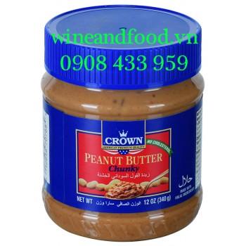 Bơ đậu phộng Crown chunky 340g