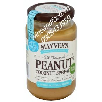 Bơ đậu phộng dừa Mayver's 375g