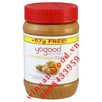 Bơ đậu phộng giòn Yogood 510g