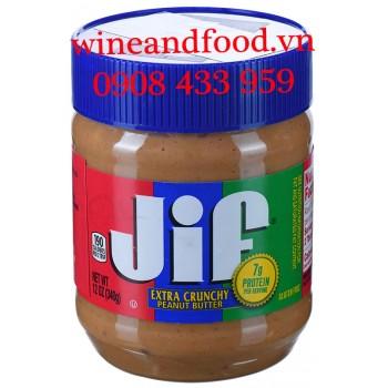 Bơ đậu phộng Jif Extra Crunchy hạt 340g