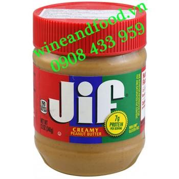 Bơ Đậu Phộng JIF Creamy mịn 340g