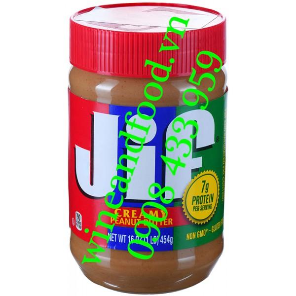 Bơ đậu phộng Jif creamy mịn 454g