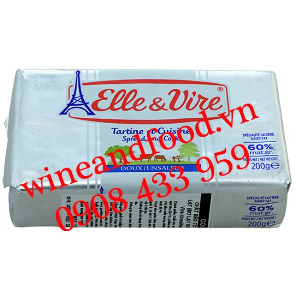 Bơ lạt Elle & Vire 200g