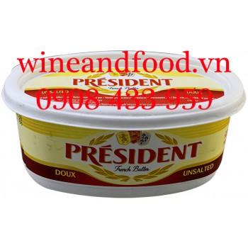 Bơ President Doux lạt hộp nhựa 250g