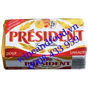 Bơ Président lạt thỏi 200g